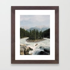 Sunwapta Falls, Jasper National Park, Alberta, Canada Framed Art Print