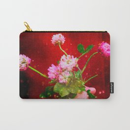 Girl holding wild clover flowers - by Brian Vegas Carry-All Pouch
