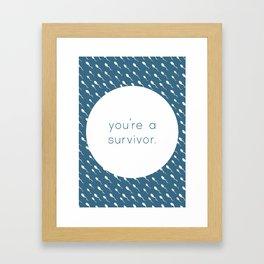 You're a Survivor - Swimming Sperm Framed Art Print