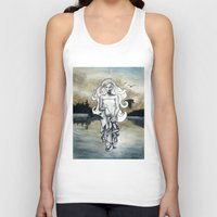 ghost Tank Tops featuring Ghost by Steven Bossler