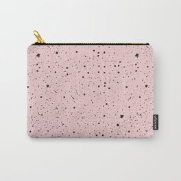 Speckled Pink Carry-All Pouch