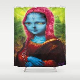 Blue Mona Shower Curtain