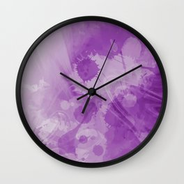 Purple Splash Abtract Wall Clock