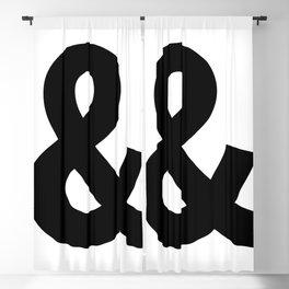 Ampersand (Black & White) Blackout Curtain