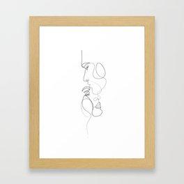 Lovers - Minimal Line Drawing Art Print 2 Framed Art Print