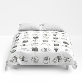 Sushi pattern (black and white version) Comforters