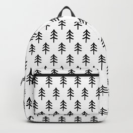 Hand drawn black and white tree Backpack