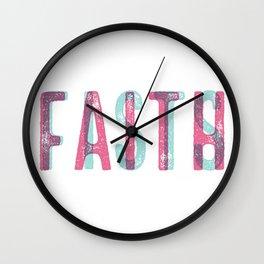 FAITHoverFISTS Wall Clock