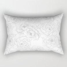 Peony Flower Pattern Rectangular Pillow