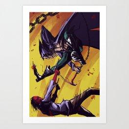 Avery Lazarus Fight Art Print