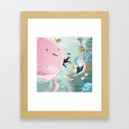 Chloé still underwater Framed Art Print