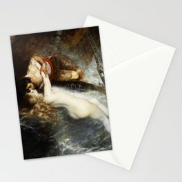 The Kiss of the Siren by Gustav Wertheimer, 1882 Stationery Cards