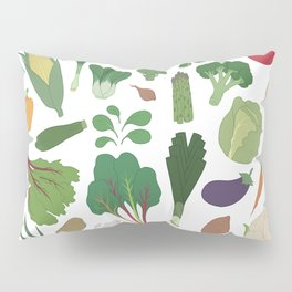 Make Friends With Vegetables Pillow Sham