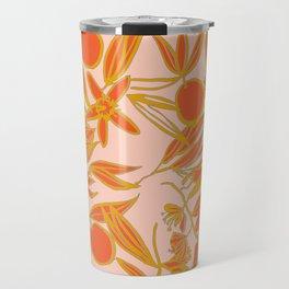 Orange Blossoms on Peach Travel Mug
