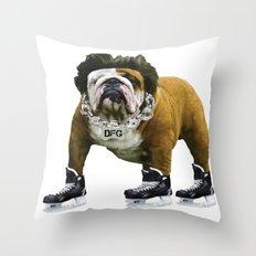 Flow Dog Throw Pillow
