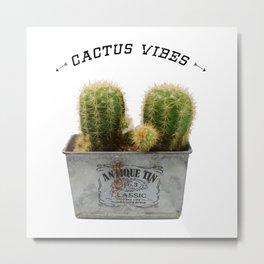 Twin Cactus Metal Print