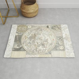 Star map of the Southern Starry Sky Rug