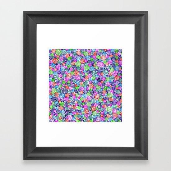 Do the Twist (bright) Framed Art Print