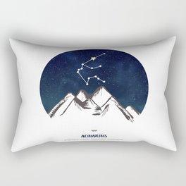 Astrology Aquarius Zodiac Horoscope Constellation Star Sign Watercolor Poster Wall Art Rectangular Pillow