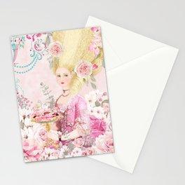 Marie Antoinette Flower Tea Stationery Cards