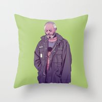 90s Throw Pillows featuring 80/90s  - DS by Mike Wrobel