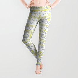 Yellow Batik Leggings