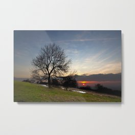 Chilterns Sunset Metal Print