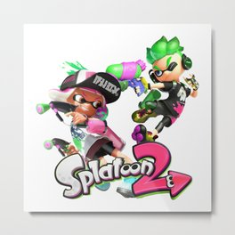 Splatoon 2 Metal Print
