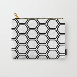 Modern black white abstract geometrical pattern Carry-All Pouch