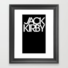 Classic : Jack Kirby Black  Framed Art Print