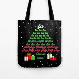 Fa la la Joy Christmas Tote Bag