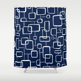 On The Quad - Navy Blue Shower Curtain