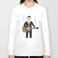 johnny cash Long Sleeve T-shirts featuring Johnny Cash by Sarah Duet