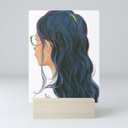 Long Hair Mini Art Print