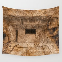 Ravaged War Bunker Wall Tapestry