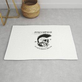 Vector Ilustracion Punk Craneo Mohawk Rug