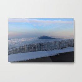 Glacier on top of Mt Kilimanjaro Metal Print