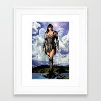 xena Framed Art Prints featuring Xena: Warrior Princess by SB Art Productions