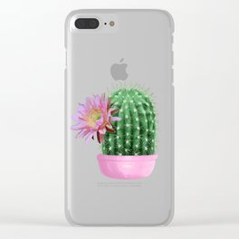 Cactus Flower Serie 1 Clear iPhone Case