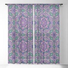 Mehndi Ethnic Style G462 Sheer Curtain