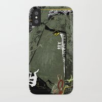 climbing iPhone & iPod Cases featuring Rock Climbing by Robin Curtiss