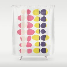 Painted Pebbles 3 Shower Curtain