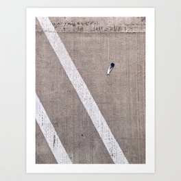 Lonely Feather Art Print