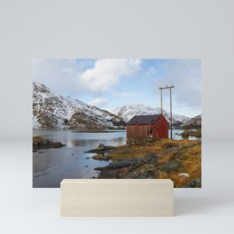 The Red Shed Panorama Mini Art Print
