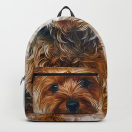 Yorkshire Terrier Art Backpack