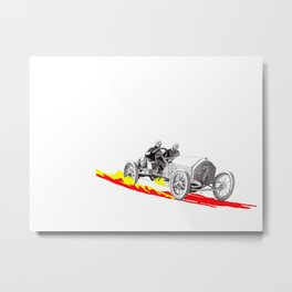 Classic Race Car Number 7 Metal Print