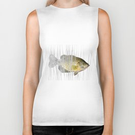 Black Crappie Fish Biker Tank