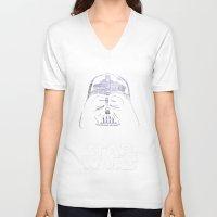 darth vader V-neck T-shirts featuring Darth Vader by Stormega
