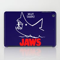 jaws iPad Cases featuring Jaws by IIIIHiveIIII