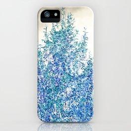 WINTER BLUE - SOLAR TREE iPhone Case